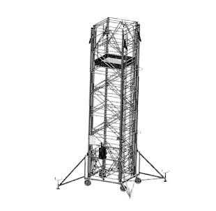 Телескопическая строительная вышка